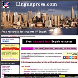 Advanced English reading resources from Linguapress