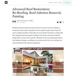 Advanced Roof Restoration: Re-Roofing, Roof Asbestos Removal, Painting