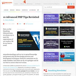 10 Advanced PHP Tips Revisited | How-To | Smashing Magazine