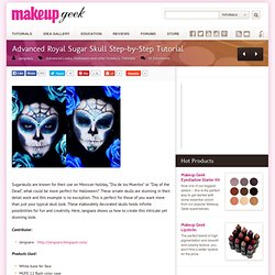 Advanced Royal Sugar Skull Step-by-Step Tutorial
