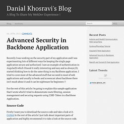 Advanced Security In Backbone Application - Danial Khosravi's Blog