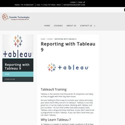 Advanced Tableau9 Training, Tableau Online Courses in Hyderabad