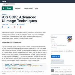 iOS SDK: Advanced UIImage Techniques