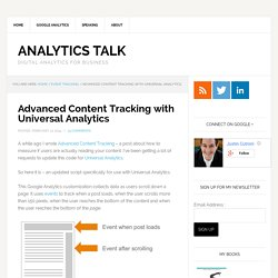 Advanced Content Tracking with Universal Analytics
