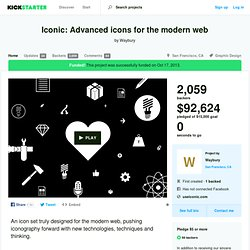Iconic: Advanced icons for the modern web by Waybury