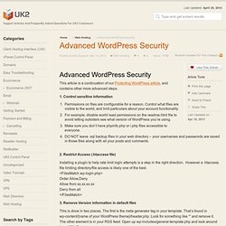 Advanced WordPress Security