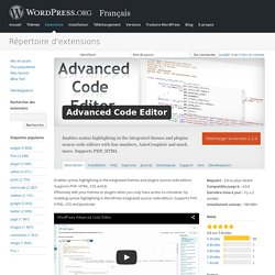 Advanced Code Editor — WordPress Plugins