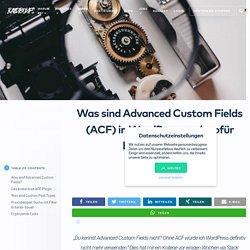 Was sind Advanced Custom Fields (ACF) in WordPress? « RAIDBOXES