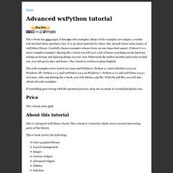 Advanced wxPython e-book
