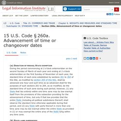 15 U.S. Code § 260a - Advancement of time or changeover dates