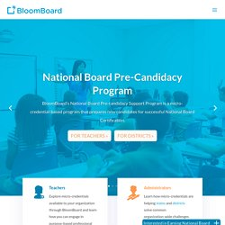 BloomBoard: MicroCredentials