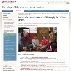 Institute for the Advancement of Philosophy for Children