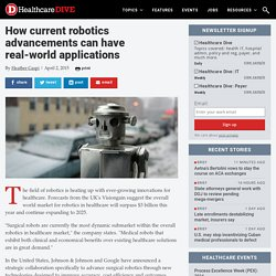 How current robotics advancements can have real-world applications