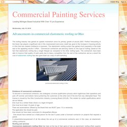 Advancements in commercial elastomeric roofing in Ohio