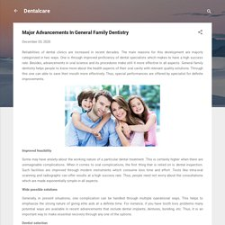 Major Advancements In General Family Dentistry