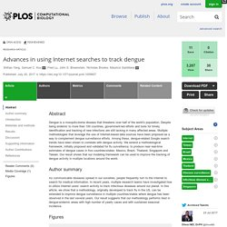 PLOS 20/07/17 Advances in using Internet searches to track dengue
