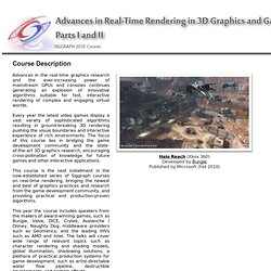 Advances in Real-Time Rendering in 3D Graphics and Games - SIGGRAPH 2010