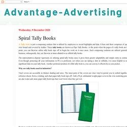 Advantage-Advertising: Spiral Tally Books