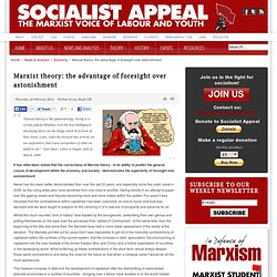 Marxist theory: the advantage of foresight over astonishment