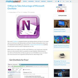 5 Ways to Take Advantage of Microsoft OneNote
