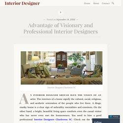 Advantage of Visionary and Professional Interior Designers – Interior Designer