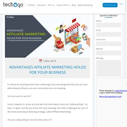 Advantages Affiliate Marketing Holds For Your Business
