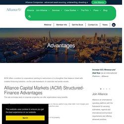 Alliance Capital Markets Structured-Finance Advantages