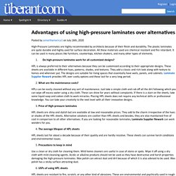 Advantages of using high-pressure laminates over alternatives