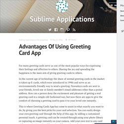 Advantages Of Using Greeting Card App