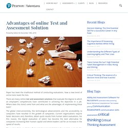 Advantages of online Test and Assessment Solution