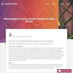 Advantages of using Atomic Design at Open Social