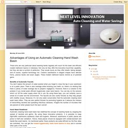 A-way Basin: Advantages of Using an Automatic Cleaning Hand Wash Basin