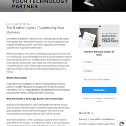 Top 5 Advantages of Automating Your Business - Deforay Blog