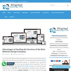 Advantages of Availing the Services of the Best Website Design Company