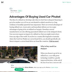 Advantages Of Buying Used Car Phuket