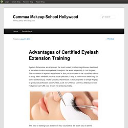 Advantages of Certified Eyelash Extension Training