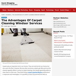The Advantages Of Carpet Cleaning Windsor Services