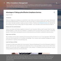 Advantages of Effective Compliance Services