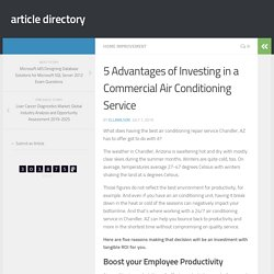 5 Advantages of Investing in a Commercial Air Conditioning Service