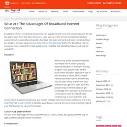 What Are The Advantages Of Broadband Internet Connection