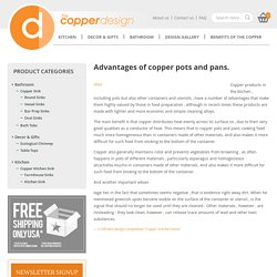 Benefits Of Using Copper Cookware