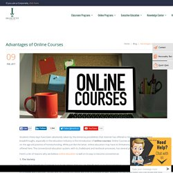 Advantages of Online Courses