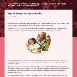 Top Advantages of Daycare Facility