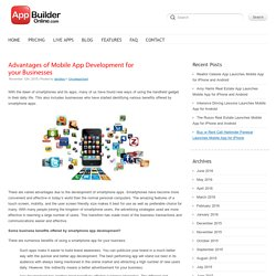 Advantages of Mobile App Development for your Businesses