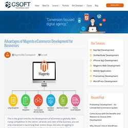 Advantages of Magento eCommerce Development for Businesses
