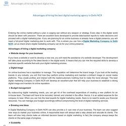 Advantages of hiring the best digital marketing agency in Delhi NCR