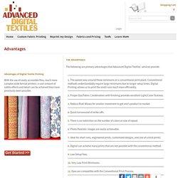 Advantages of Digital Textile Printing