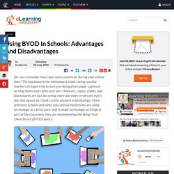 Using BYOD In Schools: Advantages And Disadvantages