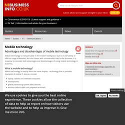 Advantages and disadvantages of mobile technology