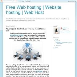 Advantages & disadvantages of having shared hosting plan